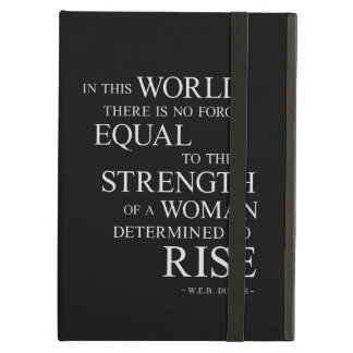 Strength Of Determined Woman Inspirational Quote B iPad Air Covers