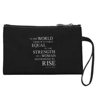Strength Of Determined Woman Inspirational Quote B Wristlet Wallet