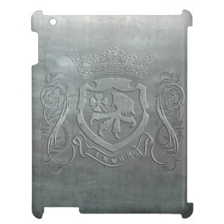 Strength of Luck Tooled Steel Crest Print iPad iPad Cover