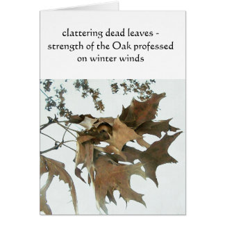 Strength Of The Oak Card
