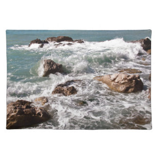 Strength of the sea - island Sicily Cloth Place Mat