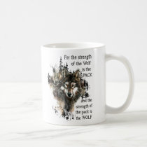 Strength of the Wolf Inspirational Family Pack Coffee Mug