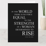 Strength Of Woman Inspirational Motivational Quote Card