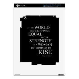 Strength Of Woman Inspirational Motivational Quote Decal For iPad 3