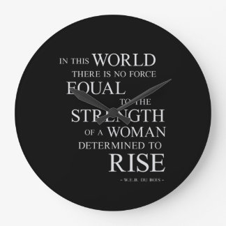 Strength Of Woman Inspirational Motivational Quote Large Clock
