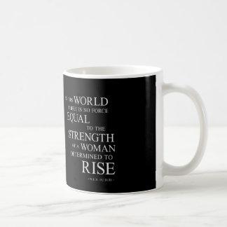 Strength Of Woman Inspiring Quotes Black White Coffee Mug