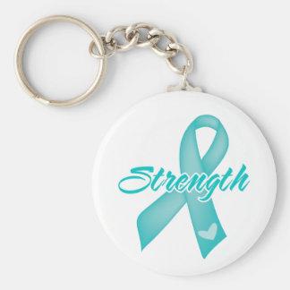 Strength - Ovarian Cancer Keychain