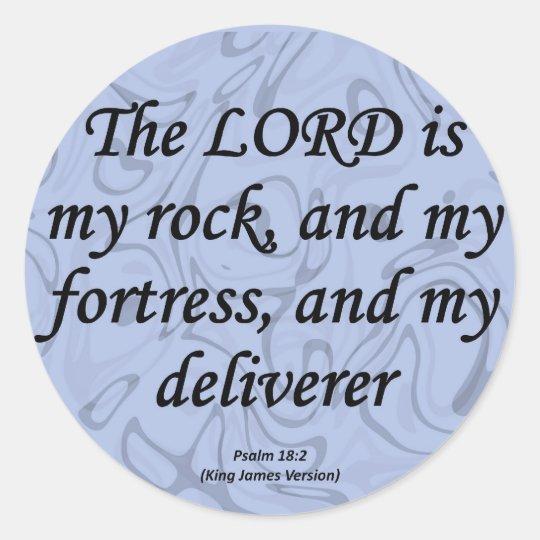 Strength Psalm 18-2 Classic Round Sticker