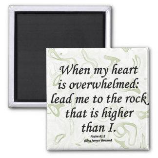Strength Psalm 61-2 Fridge Magnets