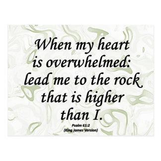 Strength Psalm 61-2 Postcard