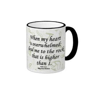 Strength Psalm 61-2 Ringer Mug
