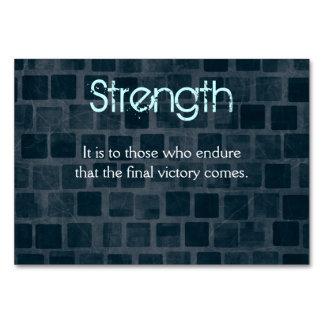 Strength Quote on a Brick Wall Texture Card