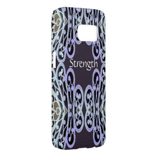 STRENGTH S7 iPhone Case 4 Anyone on Blue/White