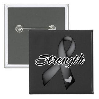 Strength - Skin Cancer Pinback Button