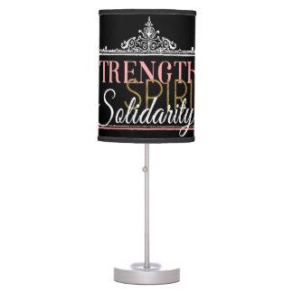 Strength, Spirit, Solidarity Desk Lamp