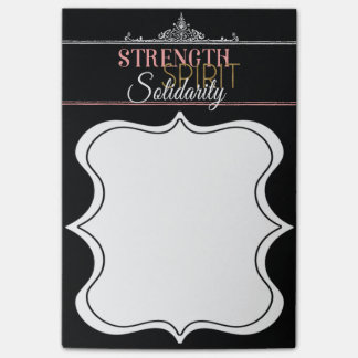 Strength, Spirit, Solidarity Post-it® Notes