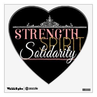 Strength, Spirit, Solidarity Wall Sticker