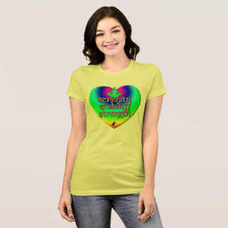 Strength Stability Serenity Rainbow Heart T-Shirt