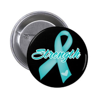 Strength - Teal Ribbon Pins