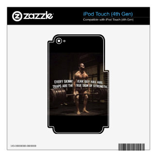 Strength Training Motivation - Traps - Workout Decal For iPod Touch 4G
