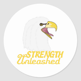 Strength Unleashed Classic Round Sticker