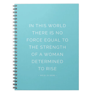 Strength Woman Inspirational Quote Notebook Blue