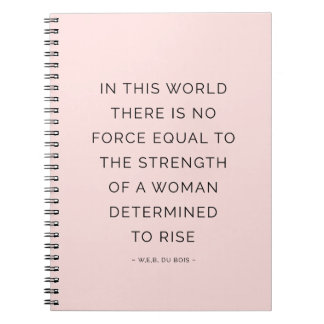 Strength Woman Inspirational Quote Notebook Pink