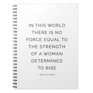 Strength Woman Inspirational Quote Notebook White