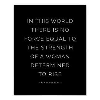 Strength Woman Inspirational Quote Posters Black