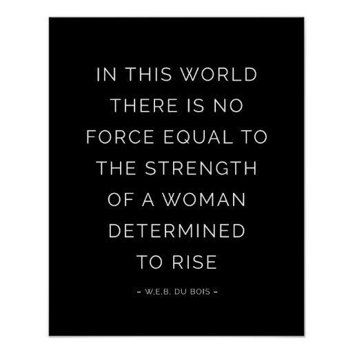 strength woman inspirational quote posters black zazzle