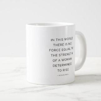 Strength Woman Motivational Quote Mug White Jumbo Mug