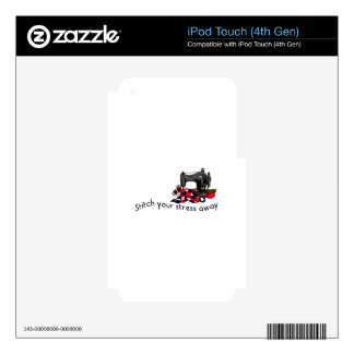 Stress Away Decals For iPod Touch 4G