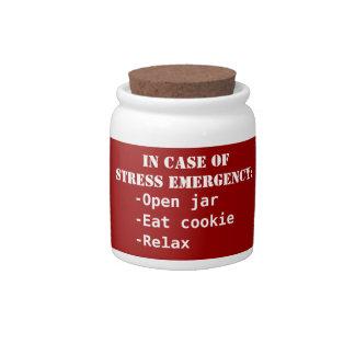 Stress emergency jar candy jar