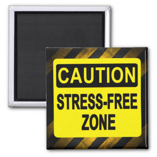 """Stress Free Zone"" by Cheryl Daniels Magnet"
