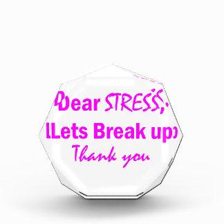 Stress Humor Acrylic Award