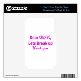 Stress Humor iPod Touch 4G Skins