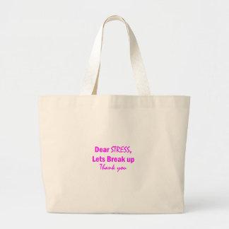 Stress Humor Large Tote Bag