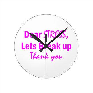 Stress Humor Round Clock