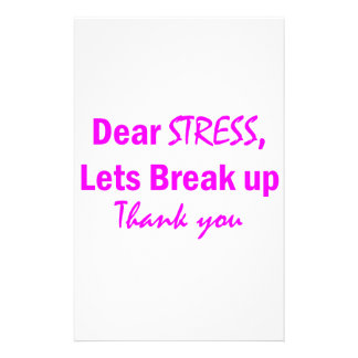 Stress Humor Stationery