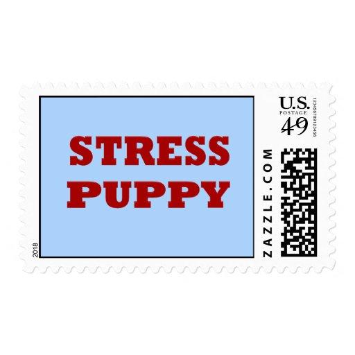 Stress Puppy Postage Stamp