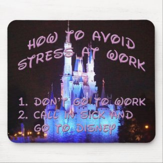 Stress-reducing mouse pad. mouse pad