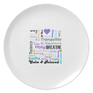 Stress-relief Calm & Relaxing Typography plate