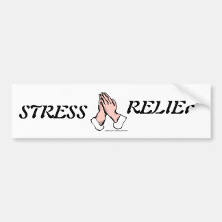 Stress Relief Praying Hands Bumper Sticker