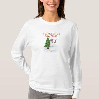 Stress snowlady with funny cartoon tshirt
