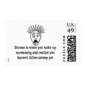 Stress - Wake up screaming Postage Stamp