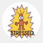 Stressed Classic Round Sticker