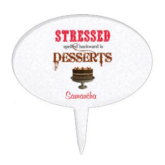 STRESSED deletreó al revés es chocolate de los Decoración De Tarta