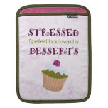 Stressed deletreó al revés es postres funda para iPads