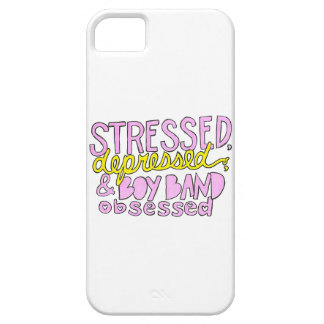 Stressed, Depressed & Boy Band Obsessed iPhone SE/5/5s Case