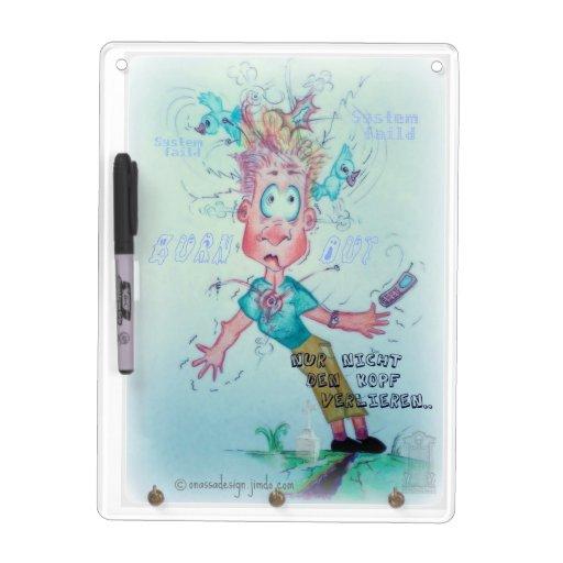 Stressed Dude Keychainholder Erase Board Dry Erase Board